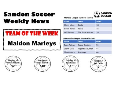 Sandon Soccer - Weekly News 17-01-20