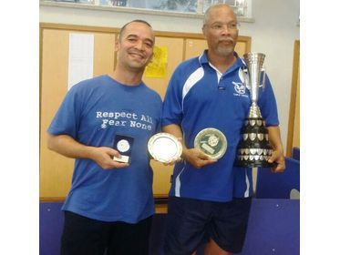 Melanky Farmer and on the right the Namibian Closed Champion, Theo Beukes