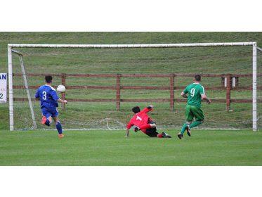 Derek Glynn scores for Claremorris v Ballina Town