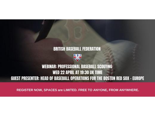 BBF Webinar: Professional Baseball Scouting