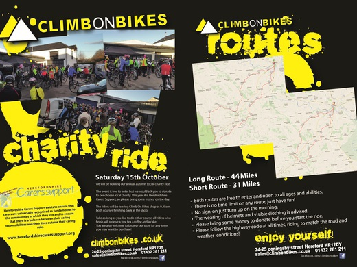 Climb on Bikes Charity Ride and 2nd Hand Bikes