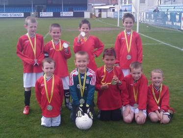 Rhuddlan Dragons Under 8`s Presidents Cup Finalists