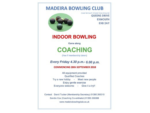 Coaching sessions begin on 28th September
