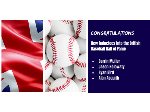 Four new members join the British Baseball Hall of Fame