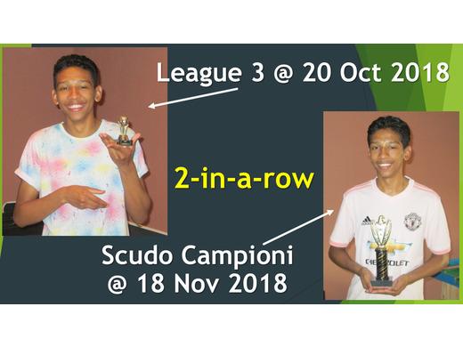 LEAGUE 3 + SCUDO CAMPIONI : Jayden vd Merwe