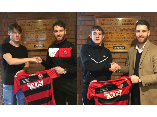 Two 16 year olds sign for the seniors