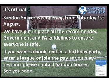 Sandon Soccer Limited Chelmsford Open