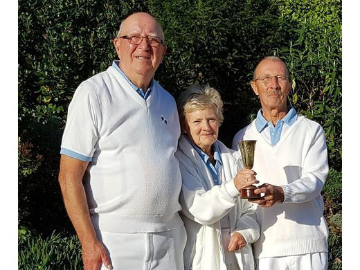 Dave Clarbull, Myra Furminger and Chris Reed - Beckhart Cup Drive winners