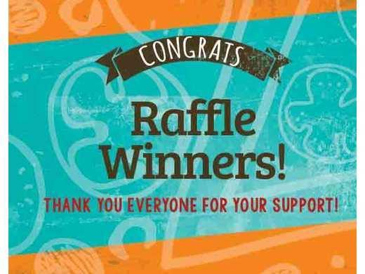 Raffle winners