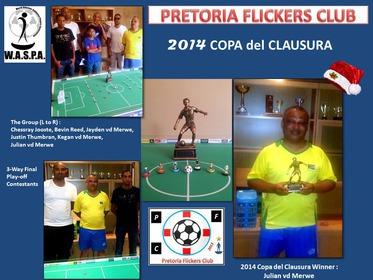 2014 PFC Copa del Clausura Event Poster