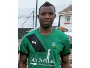 Cyril Guedje grabbed a hat-trick on his debut for Ballyheane