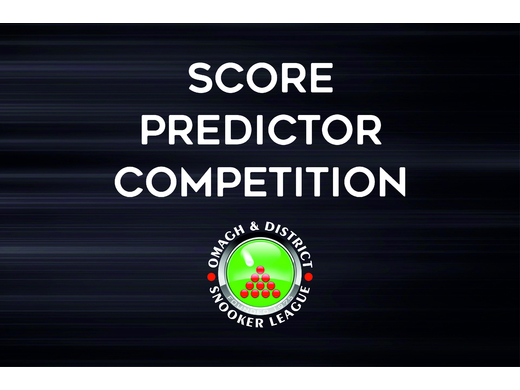 SCORE PREDICTOR COMPETITION
