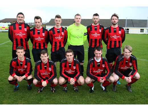 Westport United pictured before the Liam MCEntee Charity Shield Final