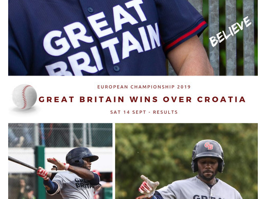 Great Britain Baseball beats Croatia