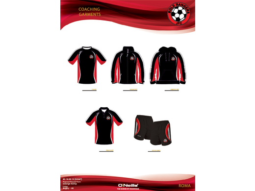 The Bold Rangers JFC Roma Range for Coaches