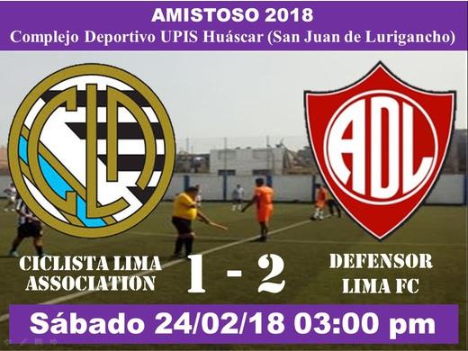 Ciclista Lima Association 1 Defensor Lima FC 2