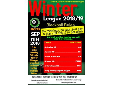 Winter League 2018 open for entries now!