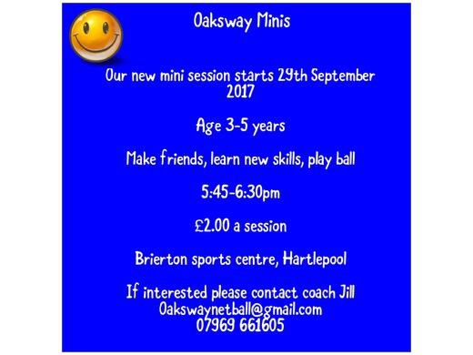 Join Oaksway Minis - Age 3-5