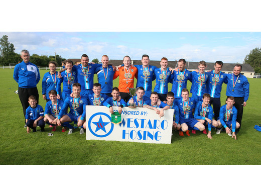 Manulla FC celebrate double cup success