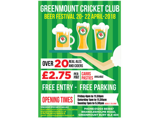 GCC Beer Festival - 20th-22nd April 2018