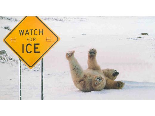Op glad ijs