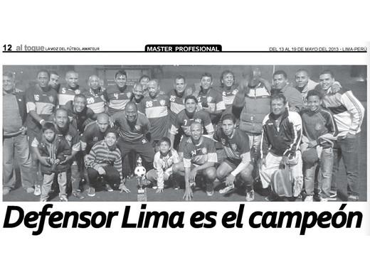 Defensor Lima campeón torneo de Verano 2013