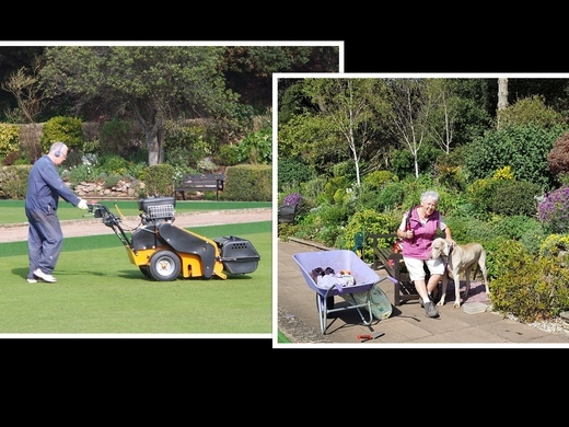Looking after the greens and gardens