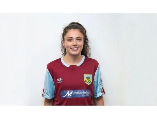 E.P representing Burnley FC Ladies