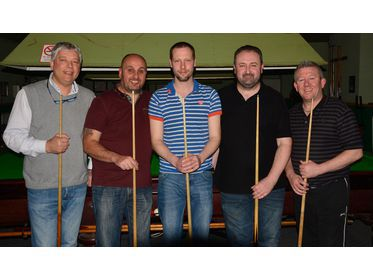 St Olaves New Skool win the 2017 Macs snooker league title