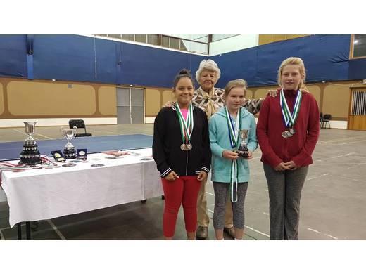 Tayla-Reese Tait, Mrs. Gobel (Patron), Raica Coelho & Janika Biederlack