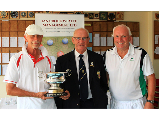 John Hooper & Paul Stone take the Men's Pairs trophy