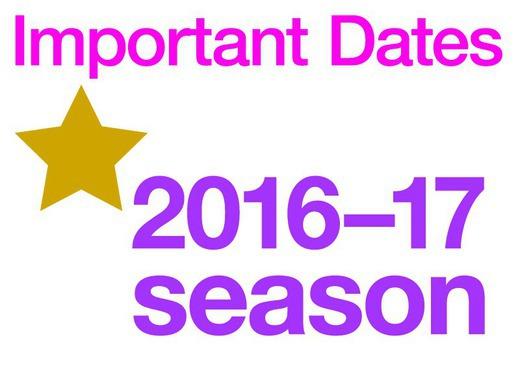 Important Dates 2016-17