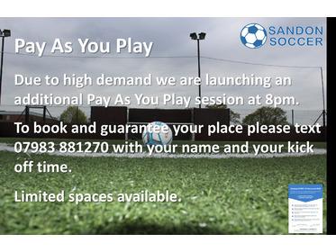 Sandon Soccer Chelmsford Open - Covid Secure Football