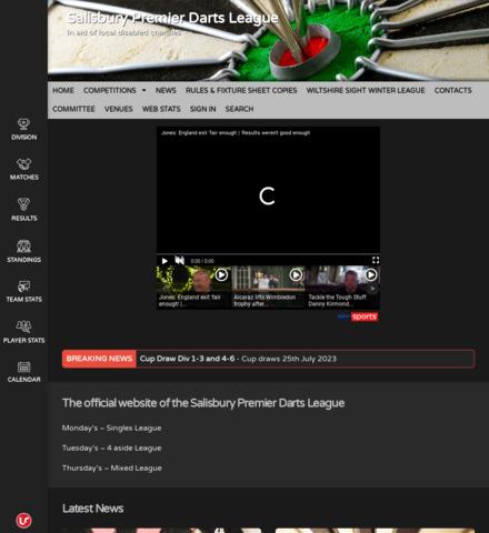 SALISBURY PREMIER DARTS LEAGUE - screenshot