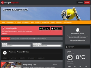 Carluke & District AFL - screenshot