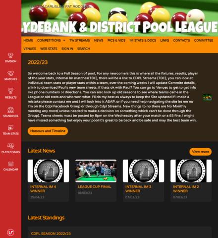 LUCKY BREAK Clydebank & District Pool League - screenshot