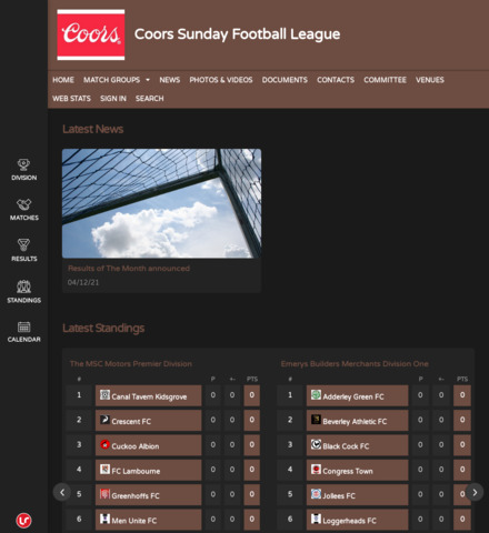 Coors Sunday Football League