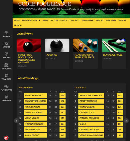 GOOLE POOL LEAGUE - screenshot