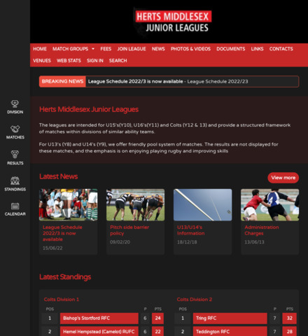 Herts Middlesex Junior Leagues
