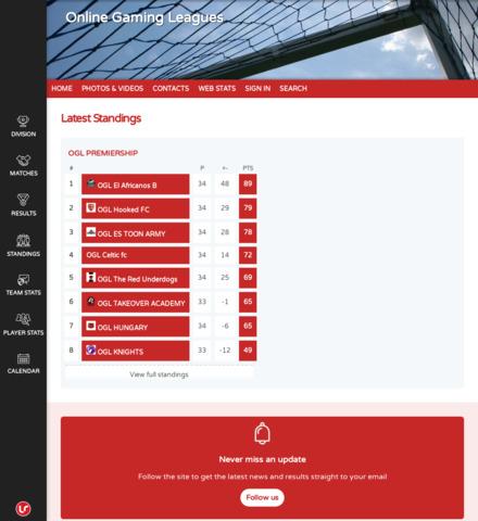Online Gaming Leagues - screenshot