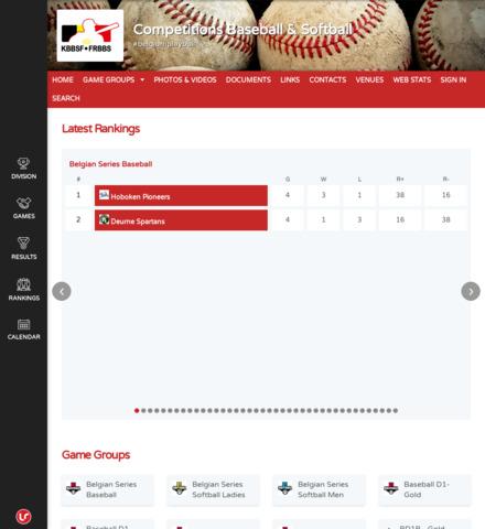 Competitions Baseball & Softball - screenshot