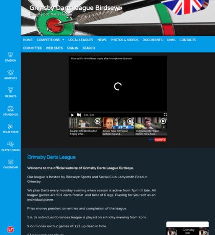 Grimsby dart singles league