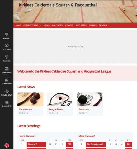 Kirklees & Calderdale Squash - screenshot