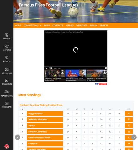 Famous Fives Football Leagues - screenshot