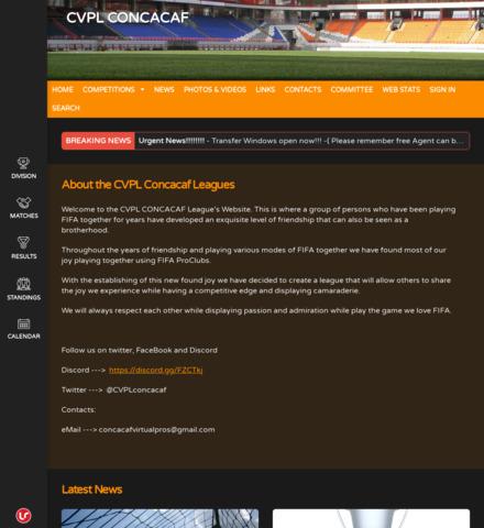CVPL CONCACAF - screenshot