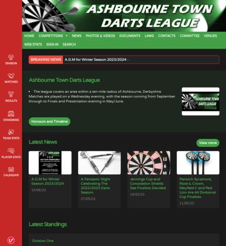 Ashbourne Town Darts League - screenshot