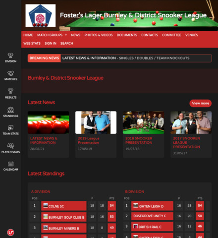 Foster's Lager Burnley & District Snooker League