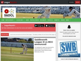 Saddleworth and District Cricket League - screenshot
