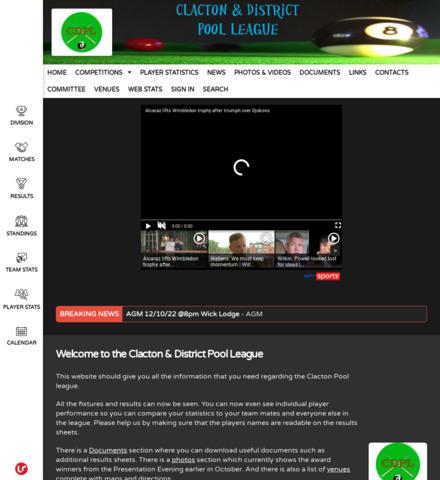 Clacton Pool League - screenshot