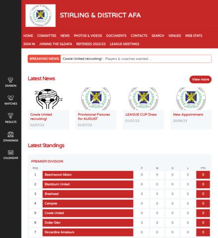STIRLING & DISTRICT AFA - screenshot
